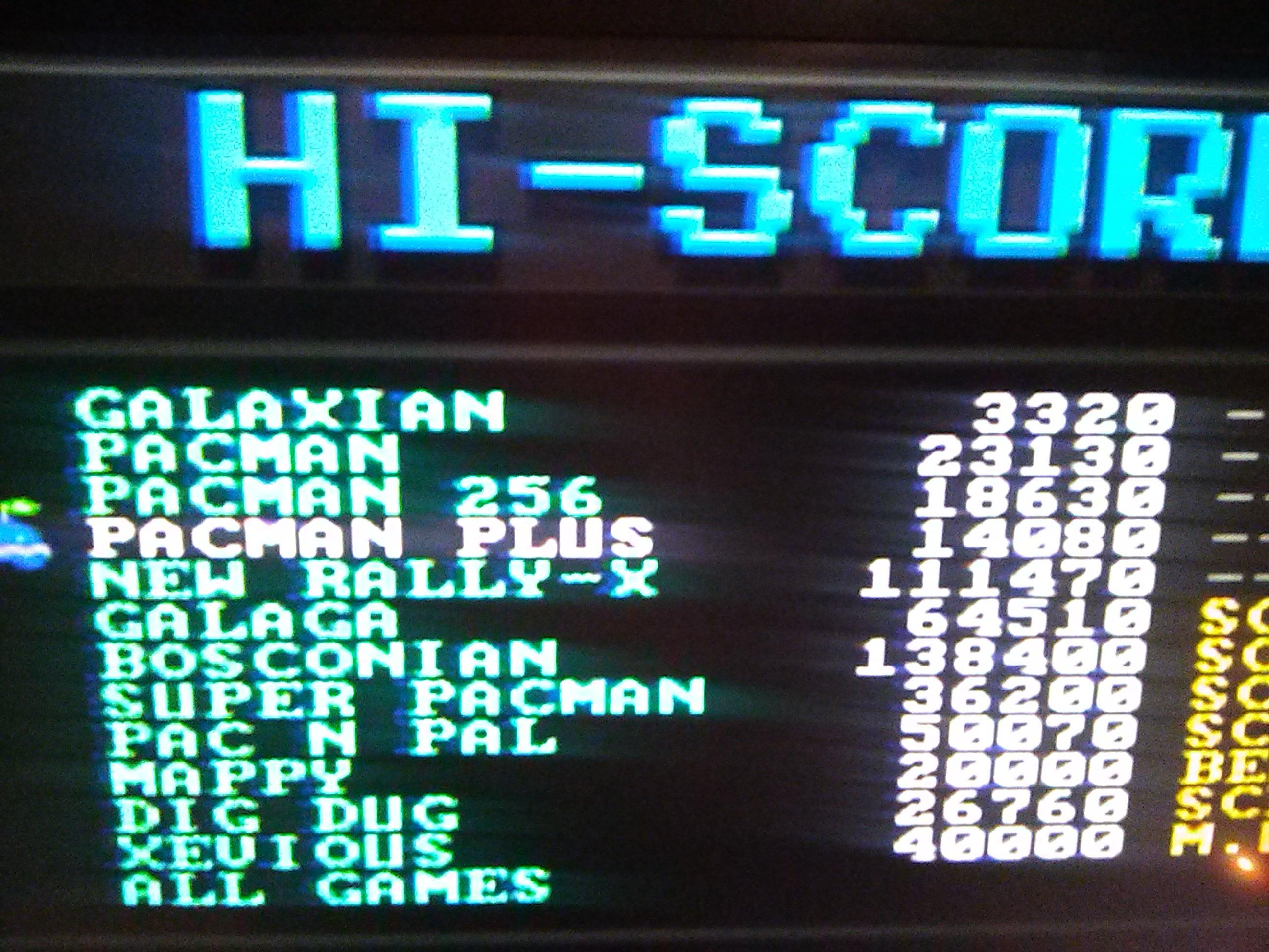 Pac-man Plus 14,080 points