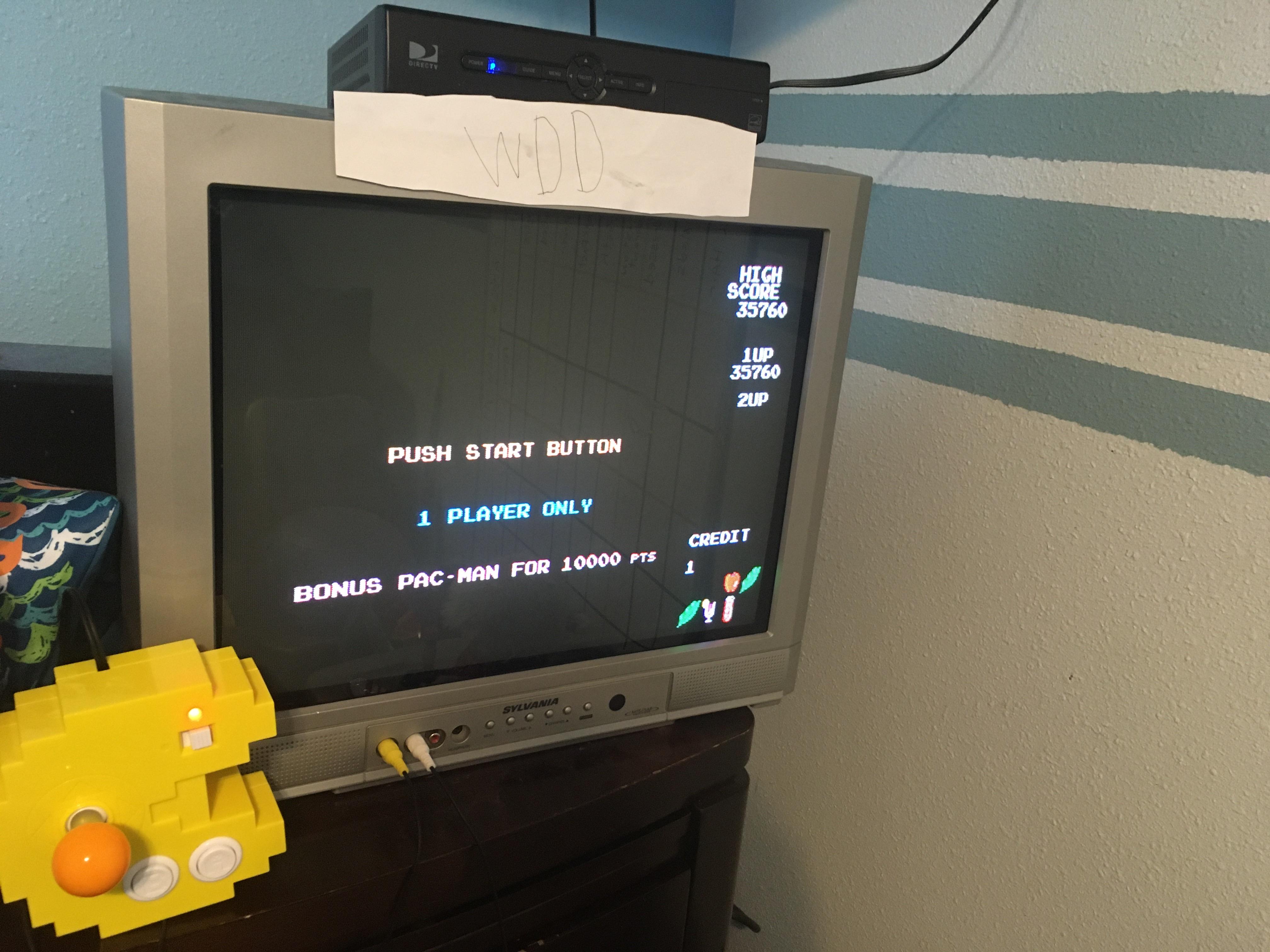 Pac-man Plus 35,760 points