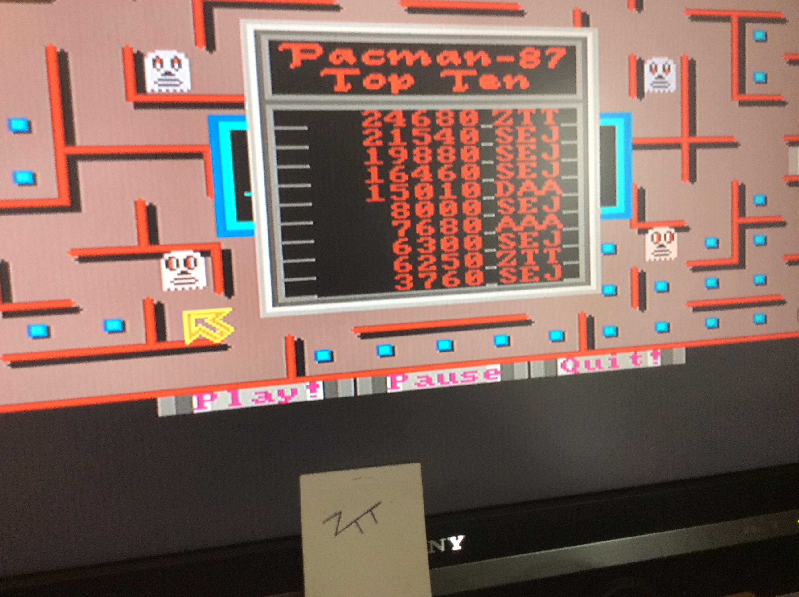 Frankie: Pacman 87 (Amiga) 24,680 points on 2016-08-11 12:59:49