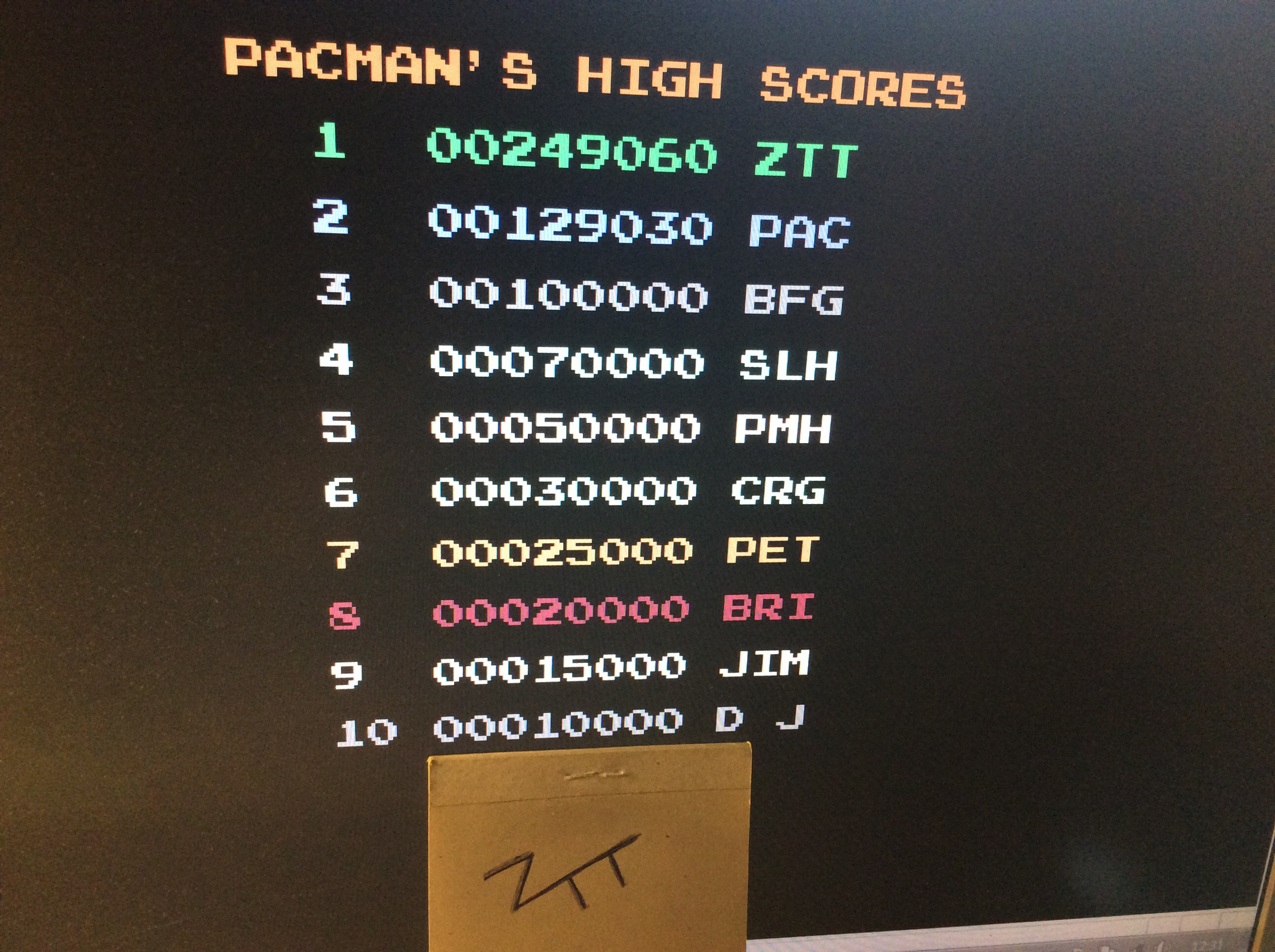 Pacmania 249,060 points