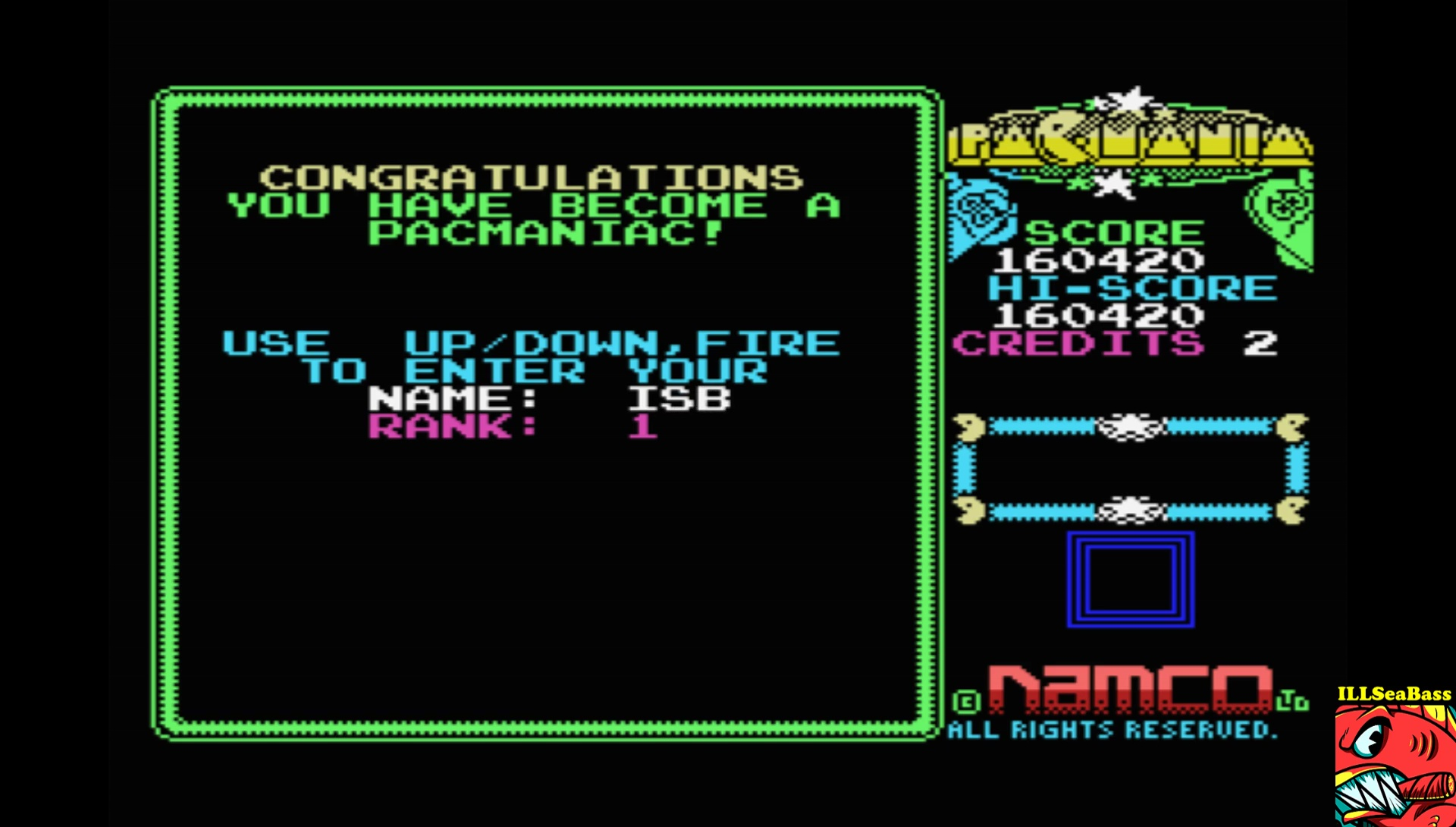 ILLSeaBass: Pacmania [Level 1 [No Continues]] (MSX Emulated) 160,420 points on 2017-08-31 12:49:41