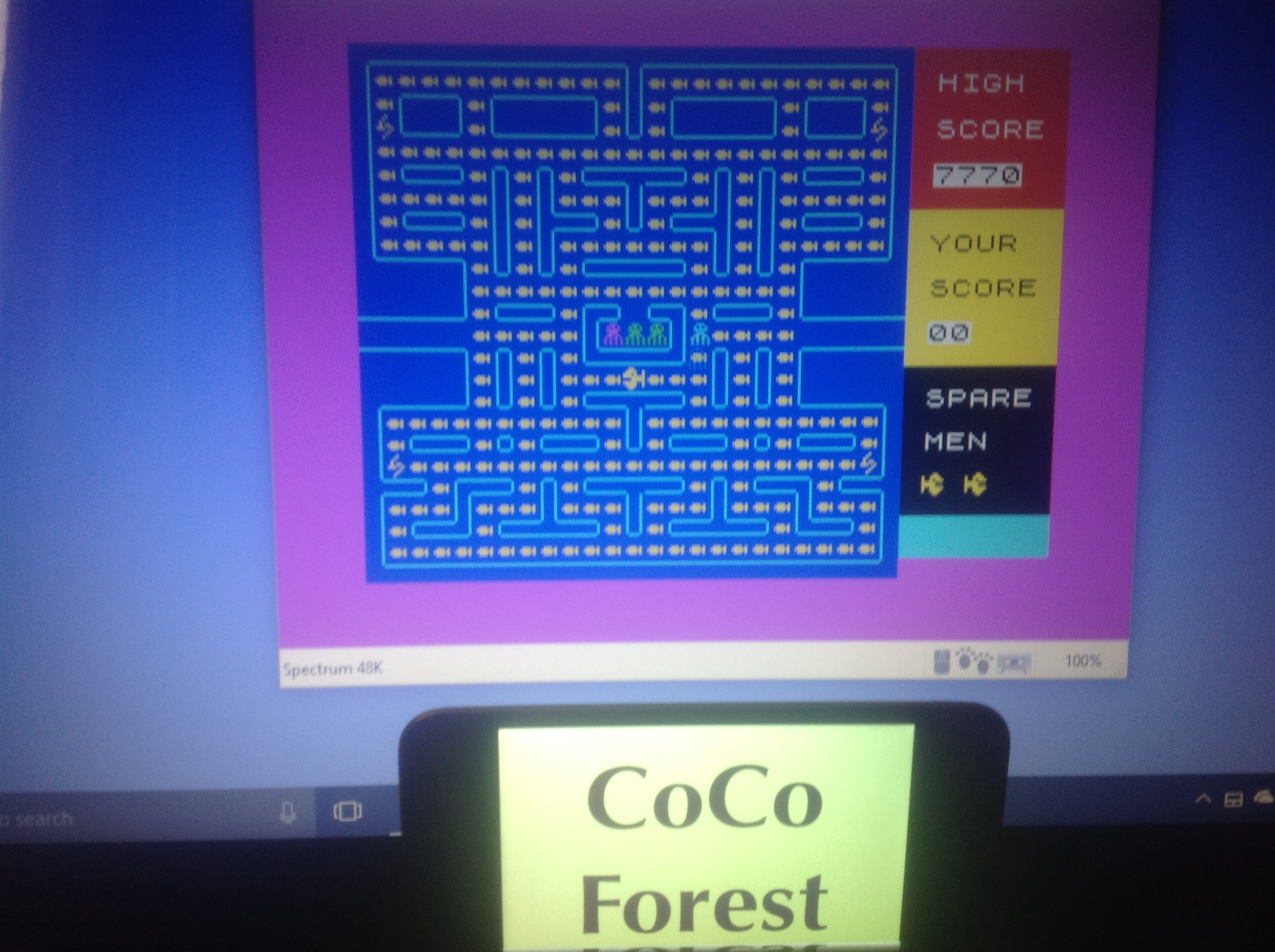 CoCoForest: Pakacuda (ZX Spectrum Emulated) 7,770 points on 2018-01-17 07:32:44
