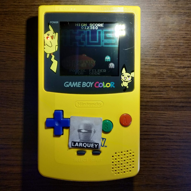 Larquey: Pakus (Game Boy Color) 12,380 points on 2020-07-14 11:50:16