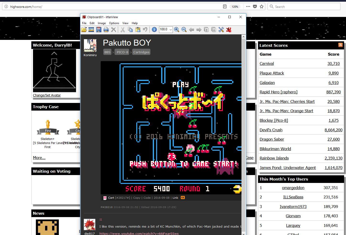 Pakutto BOY [PICO-8] 5,400 points