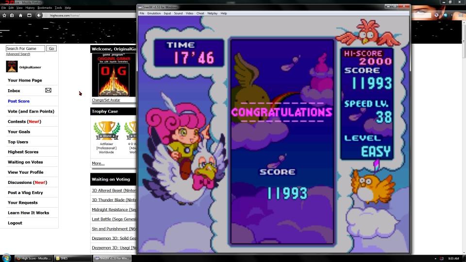 OriginalGamer: Panel de Pon [Endless/Easy] (SNES/Super Famicom Emulated) 11,993 points on 2016-07-01 23:10:39