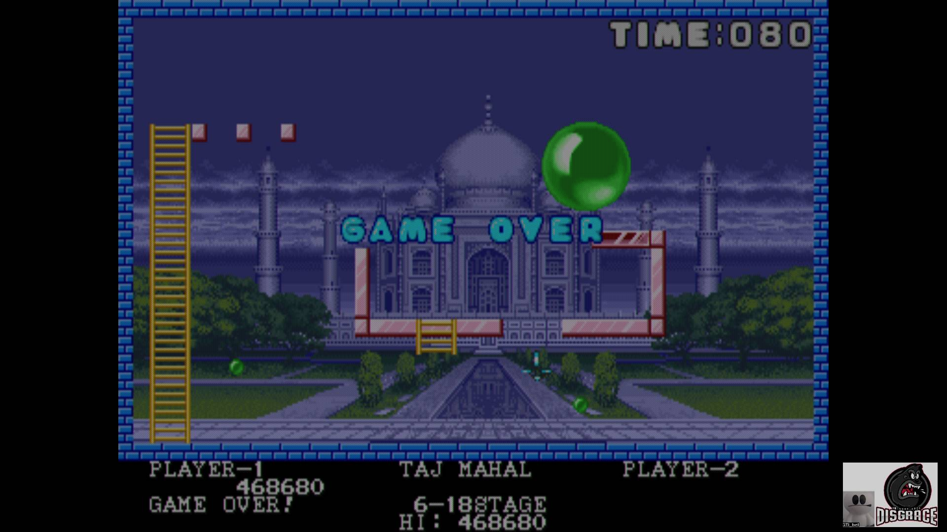 GTibel: Pang (Arcade Emulated / M.A.M.E.) 468,680 points on 2020-02-05 08:05:13