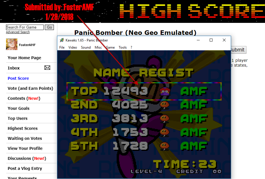 FosterAMF: Panic Bomber (Neo Geo Emulated) 12,493 points on 2018-01-28 14:34:01