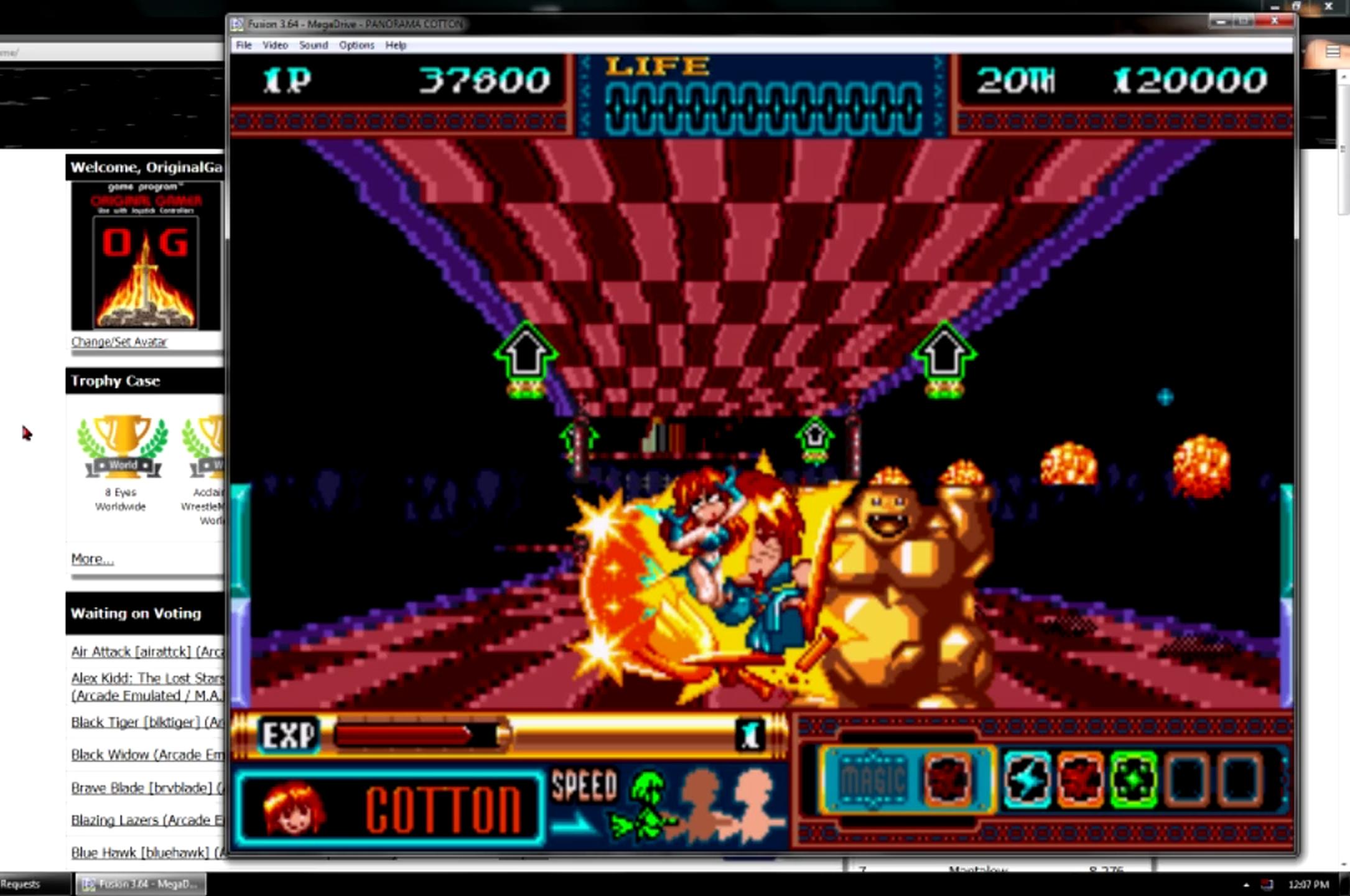 OriginalGamer: Panorama Cotton (Sega Genesis / MegaDrive Emulated) 37,800 points on 2015-06-20 19:06:15