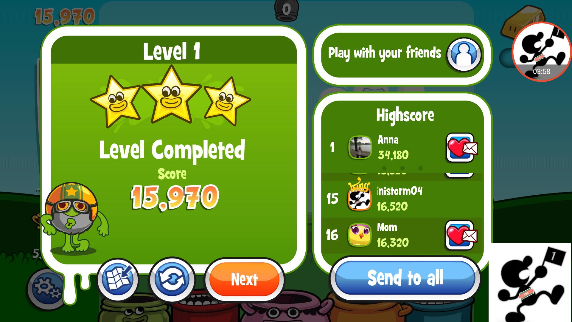 Papa Pear Saga: Level 001 15,970 points