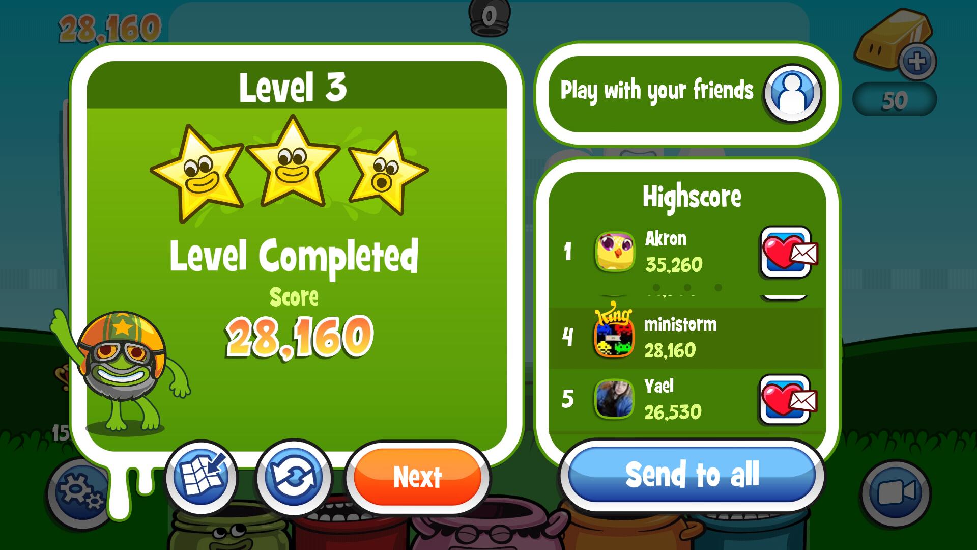 Papa Pear Saga: Level 003 28,160 points
