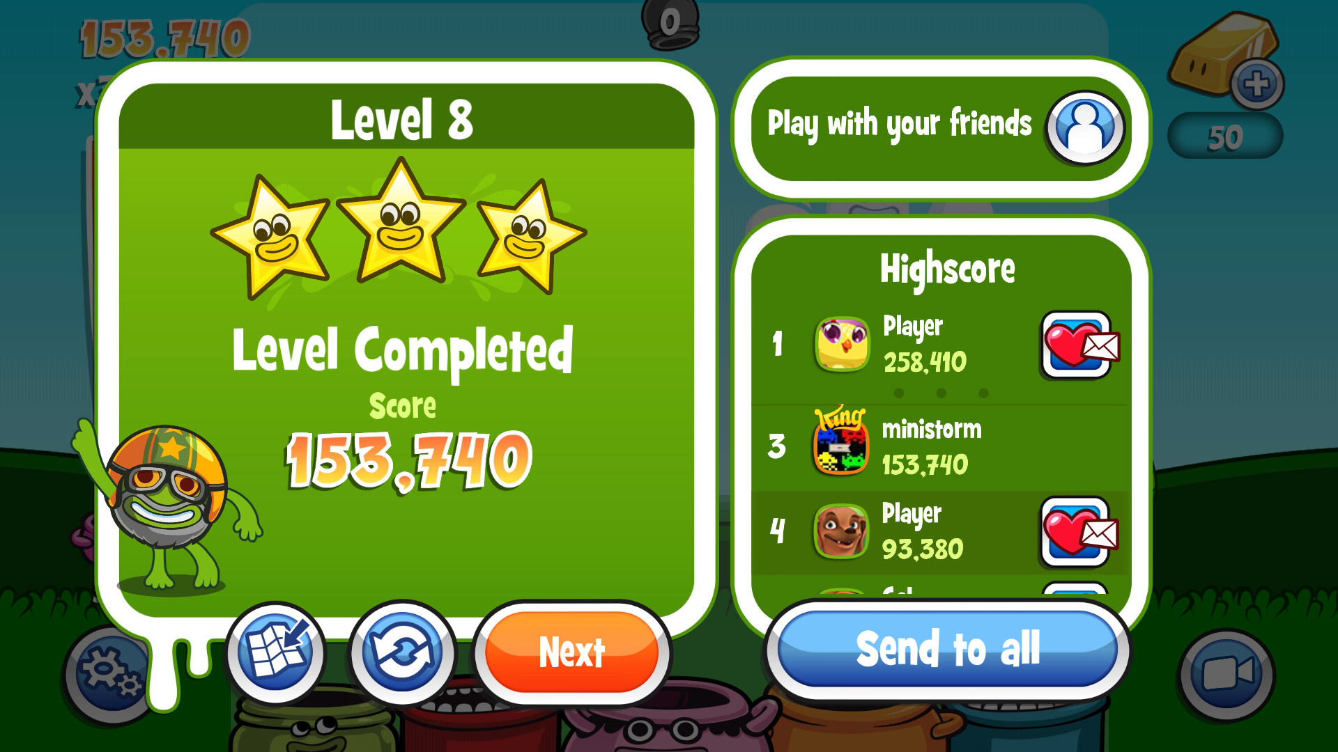 Papa Pear Saga: Level 008 153,740 points