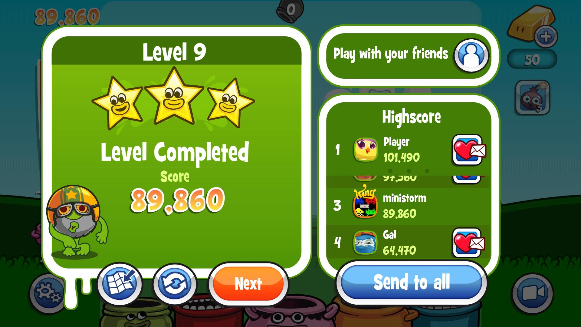 Papa Pear Saga: Level 009 89,860 points