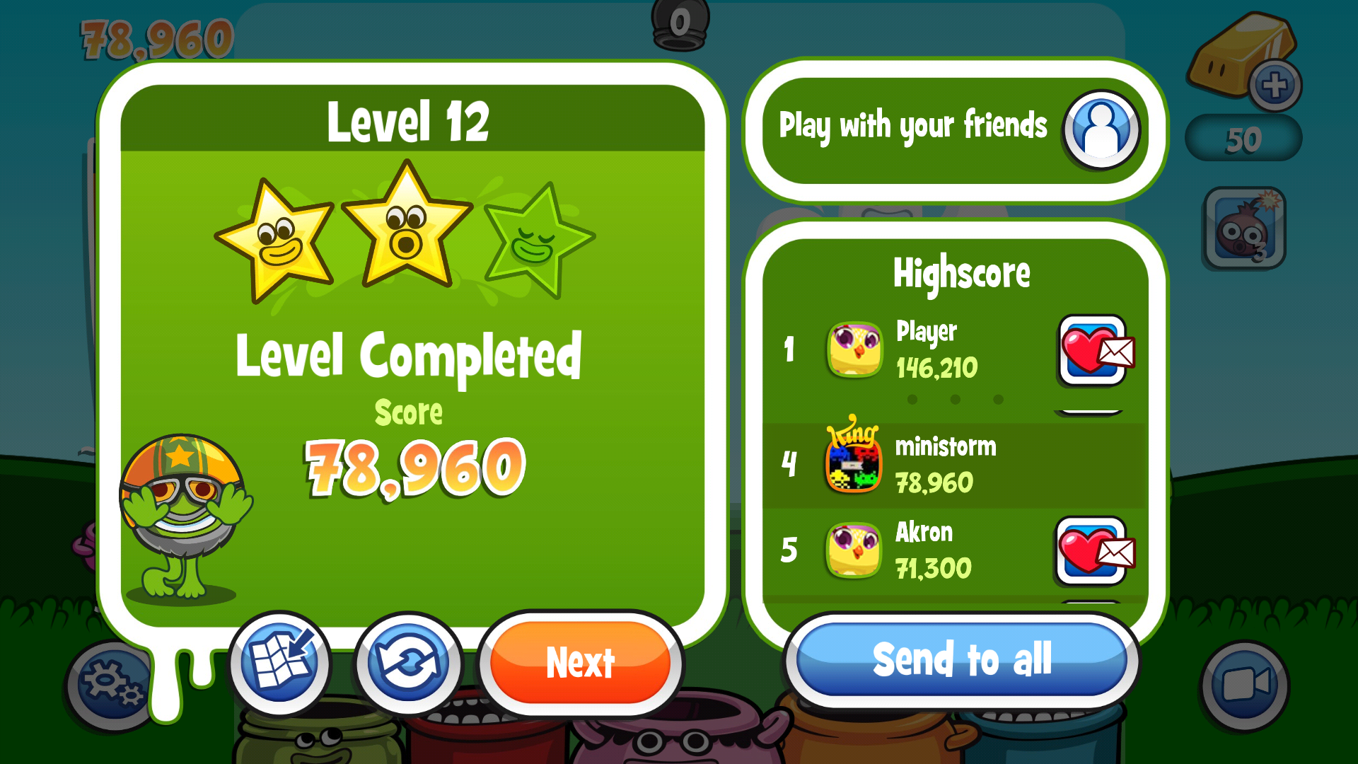 Papa Pear Saga: Level 012 78,960 points