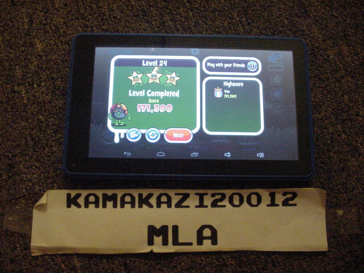 kamakazi20012: Papa Pear Saga: Level 024 (Android) 171,390 points on 2015-07-14 01:38:06