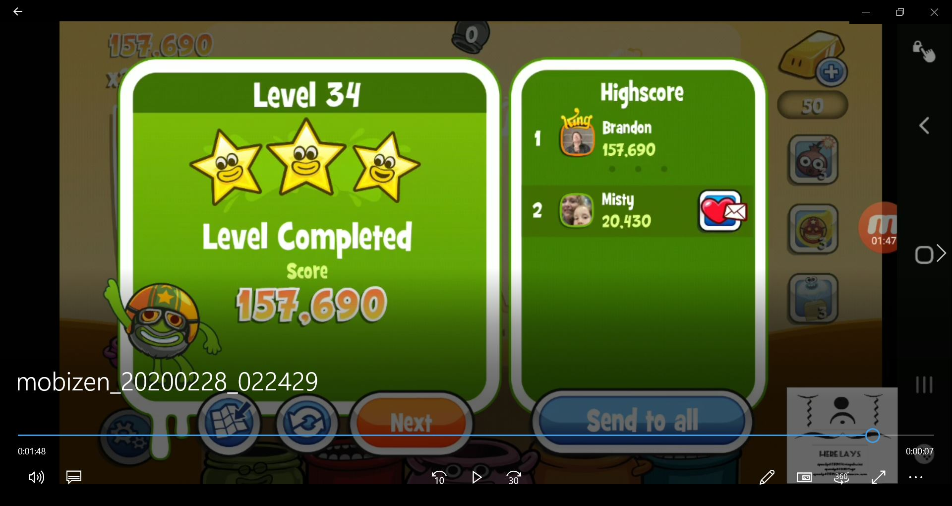speedy4759123: Papa Pear Saga: Level 034 (Android) 157,690 points on 2020-03-19 09:53:17