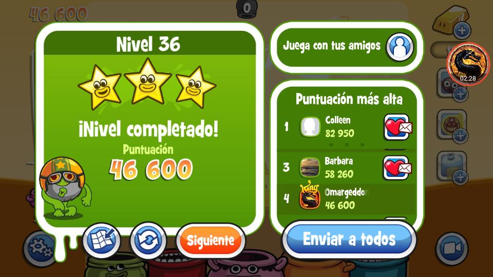 omargeddon: Papa Pear Saga: Level 036 (Android) 46,600 points on 2019-07-09 18:20:55