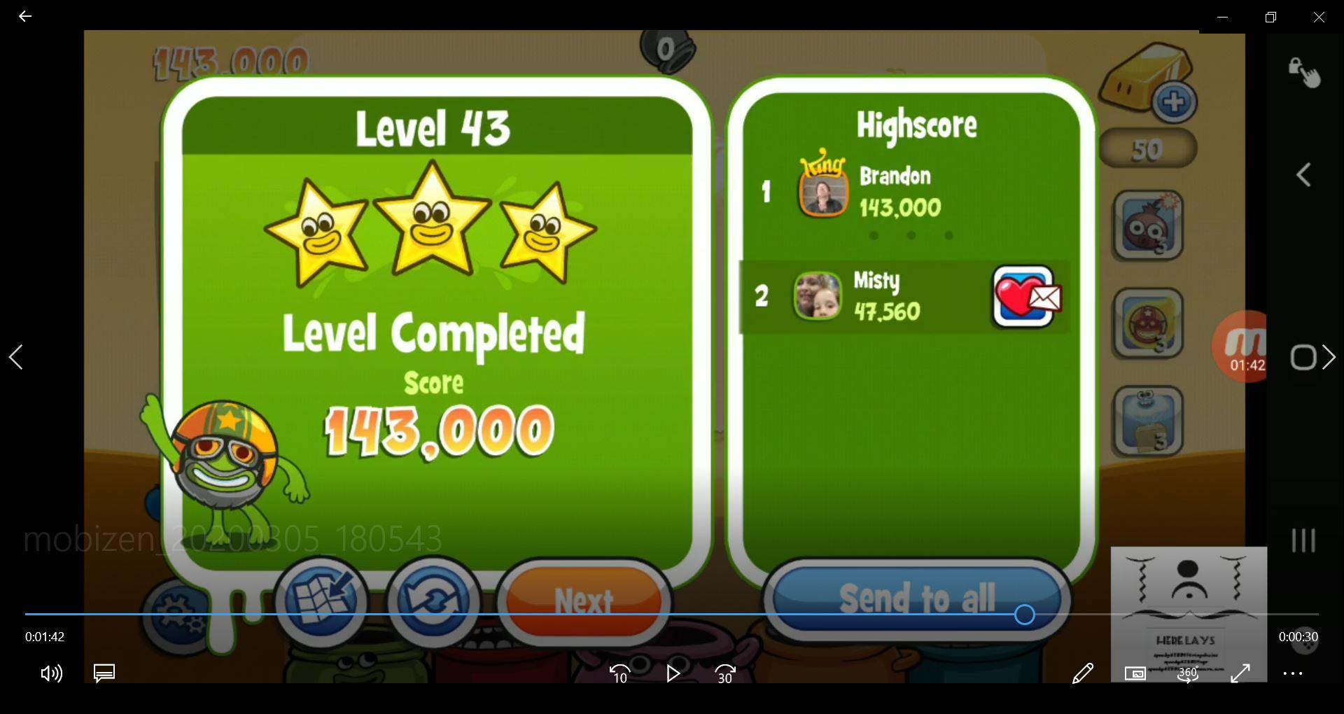 speedy4759123: Papa Pear Saga: Level 043 (Android) 143,000 points on 2020-03-07 06:08:16