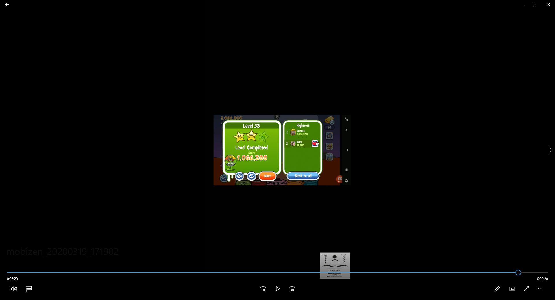 speedy4759123: Papa Pear Saga: Level 053 (Android) 1,066,300 points on 2020-03-29 13:06:44