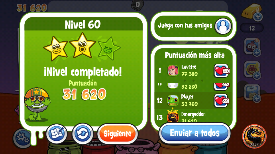 omargeddon: Papa Pear Saga: Level 060 (Android) 31,620 points on 2019-08-30 15:22:56