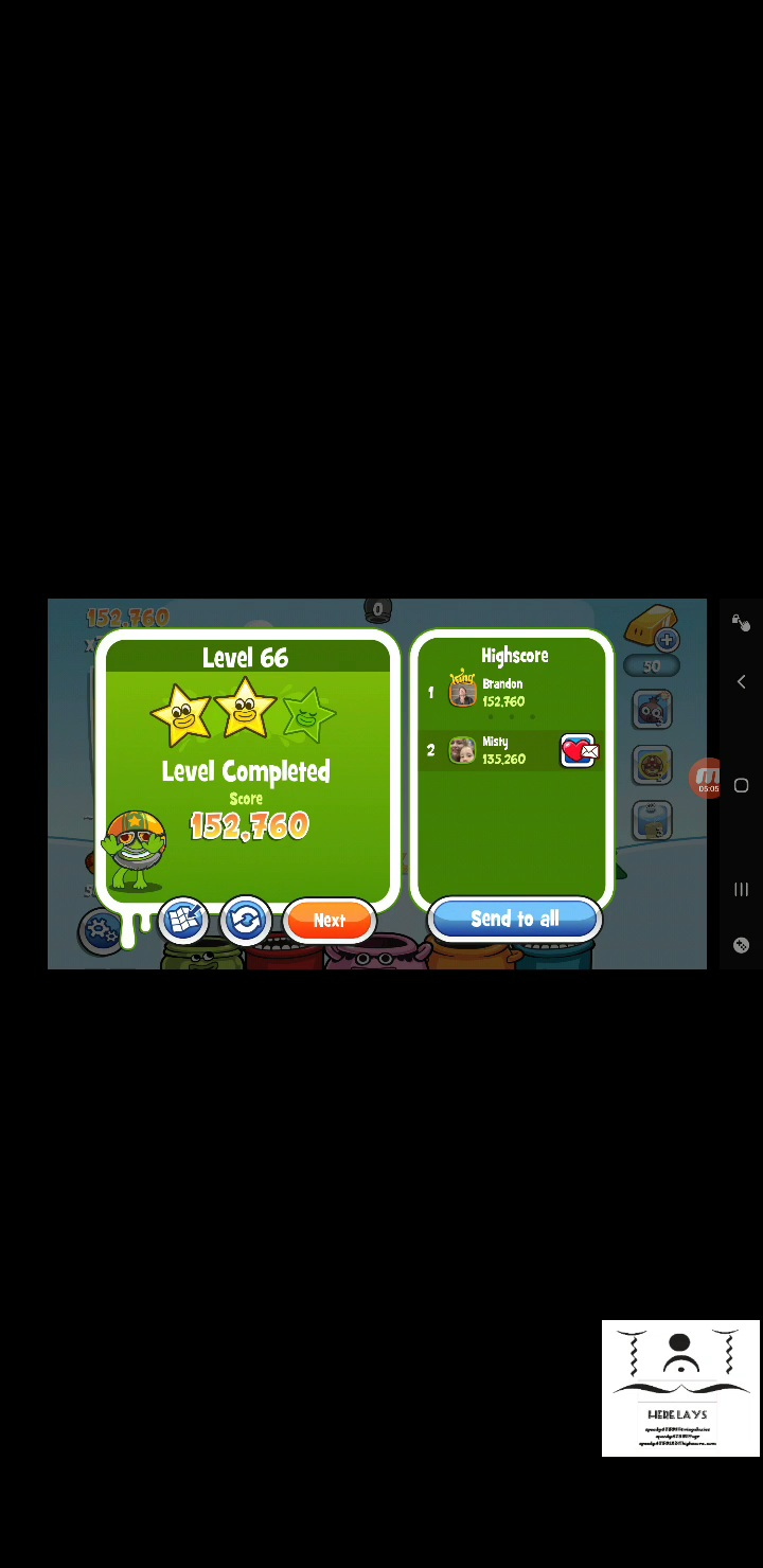 speedy4759123: Papa Pear Saga: Level 066 (Android) 152,760 points on 2020-07-23 19:50:48