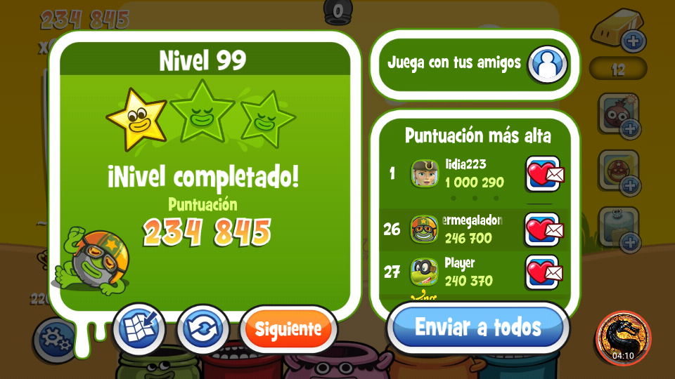 omargeddon: Papa Pear Saga: Level 099 (Android) 234,845 points on 2019-09-29 19:44:49