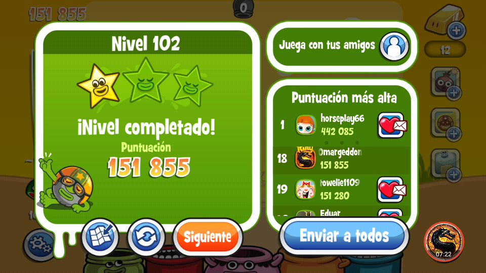 omargeddon: Papa Pear Saga: Level 102 (Android) 151,855 points on 2019-09-29 19:47:37