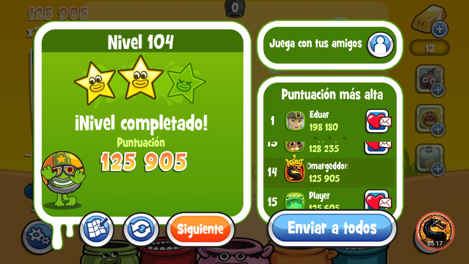 omargeddon: Papa Pear Saga: Level 104 (Android) 125,905 points on 2019-09-29 19:49:51