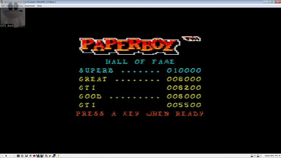 GTibel: Paperboy (Amstrad CPC Emulated) 6,200 points on 2016-08-04 06:22:41