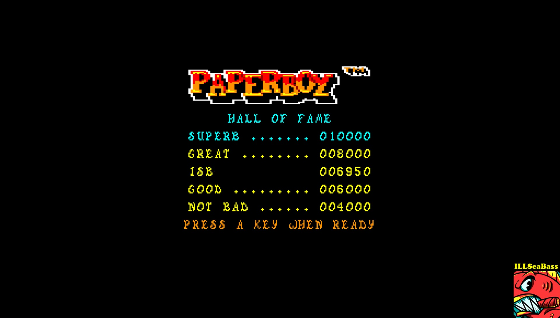 Paperboy 6,950 points