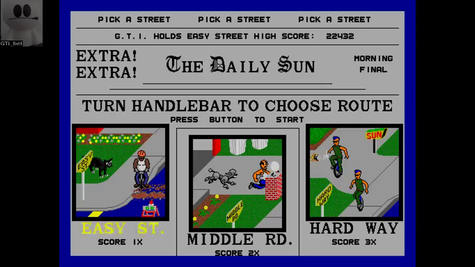 GTibel: Paperboy (Arcade Emulated / M.A.M.E.) 41,377 points on 2016-08-03 15:10:32