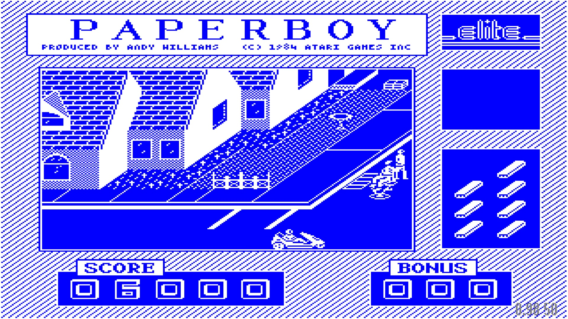 ILLSeaBass: Paperboy (BBC Micro Emulated) 6,000 points on 2017-10-08 10:10:20