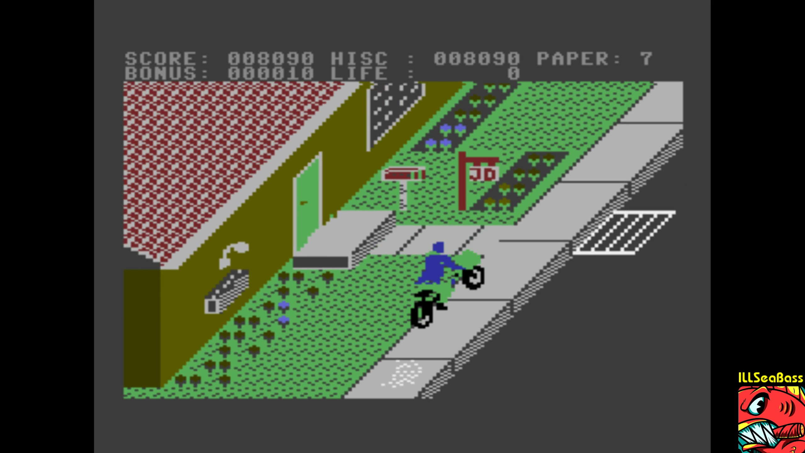 ILLSeaBass: Paperboy (Commodore 16/Plus4 Emulated) 8,090 points on 2018-02-05 23:14:06