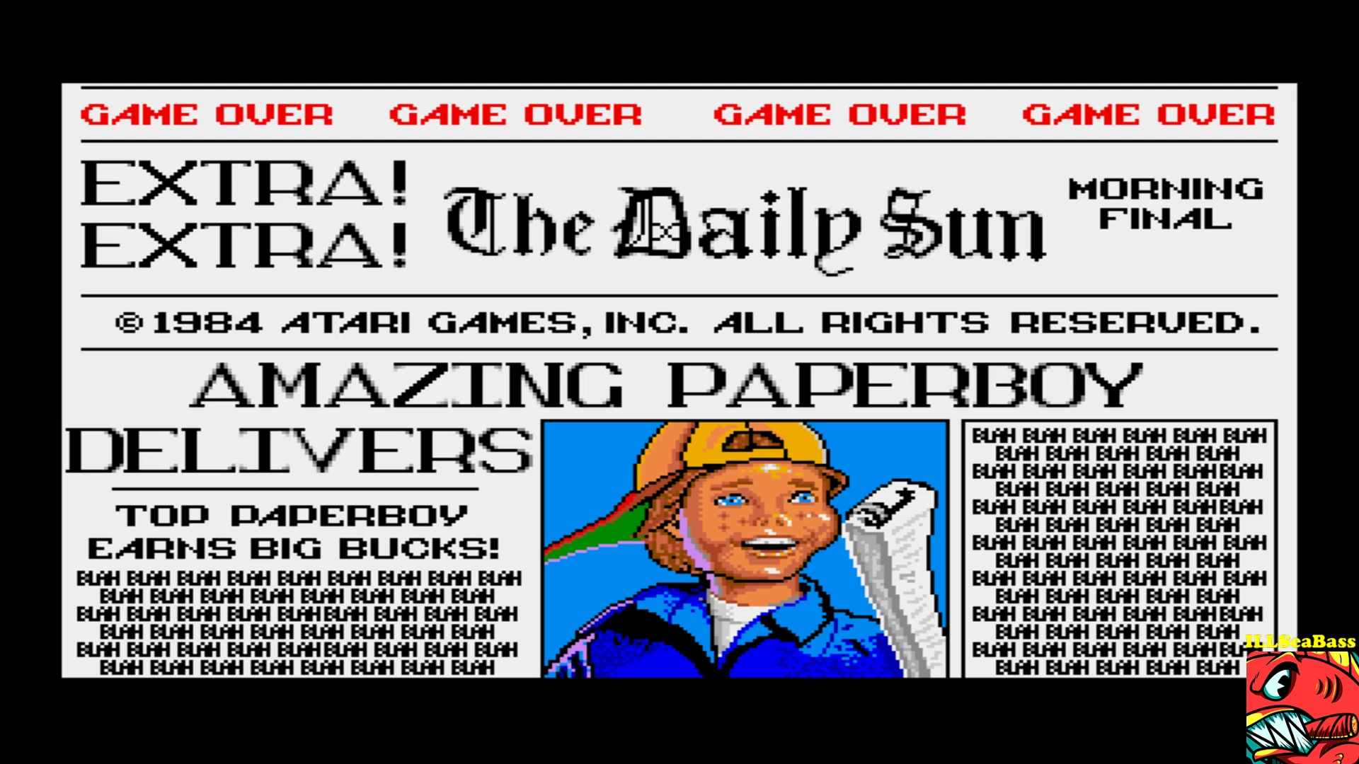 ILLSeaBass: Paperboy [Easy Street] (Amiga Emulated) 37,550 points on 2017-10-22 21:17:23