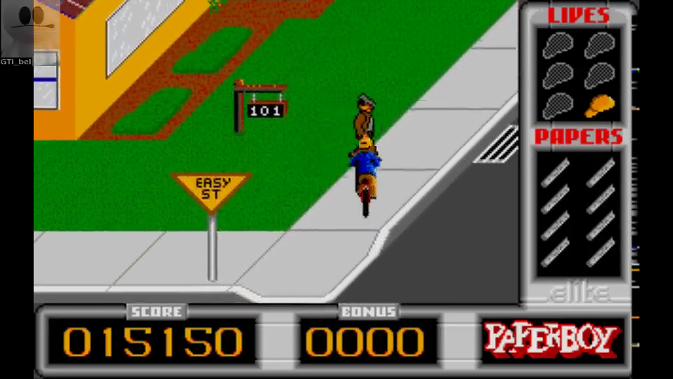 GTibel: Paperboy [Easy Street] (Atari ST Emulated) 15,150 points on 2016-09-17 02:23:34