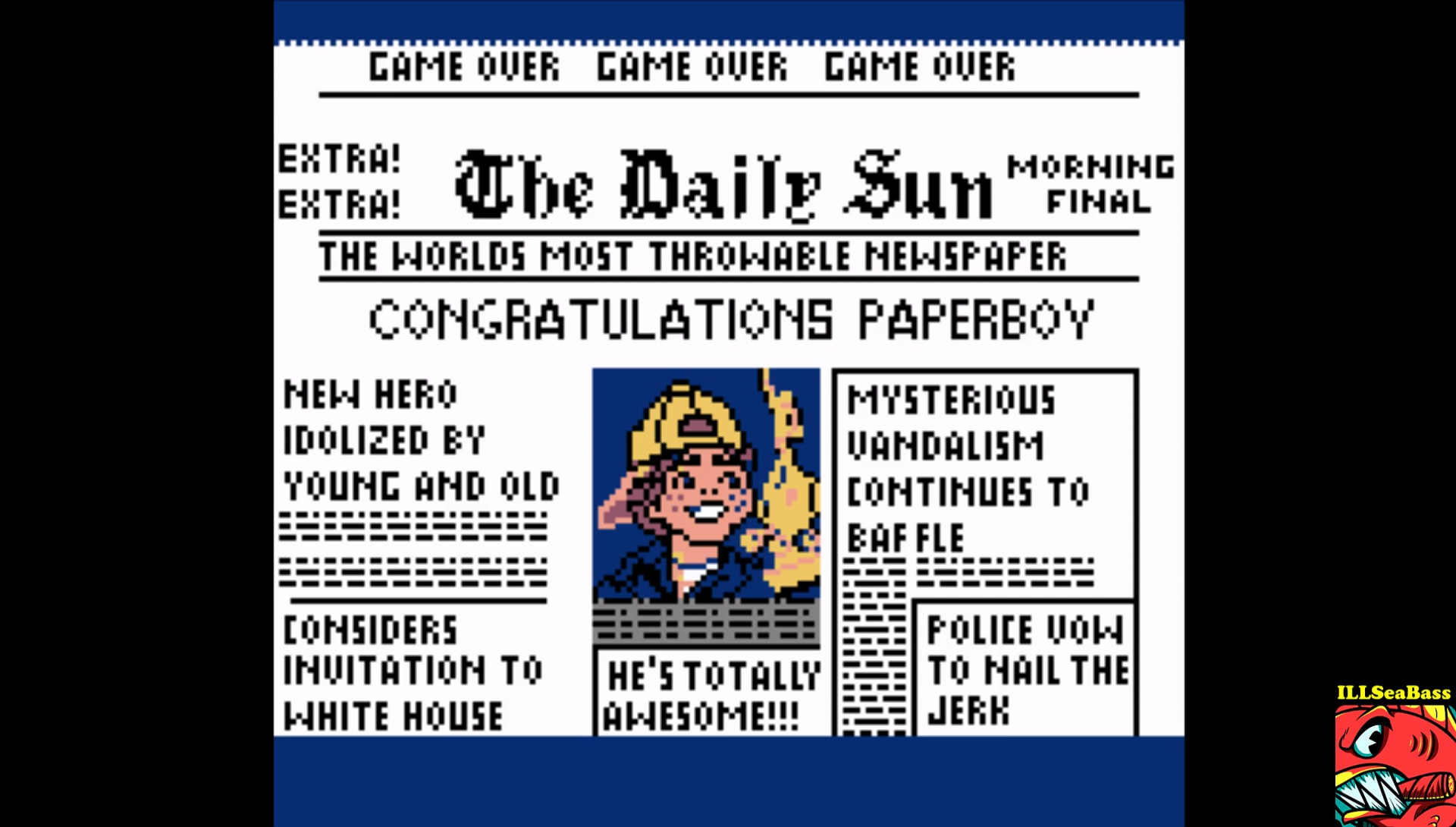 ILLSeaBass: Paperboy [Easy Street] (Game Boy Color Emulated) 65,675 points on 2017-04-24 16:44:43