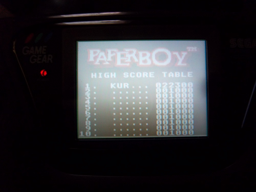 Paperboy [Easy Street] 22,300 points
