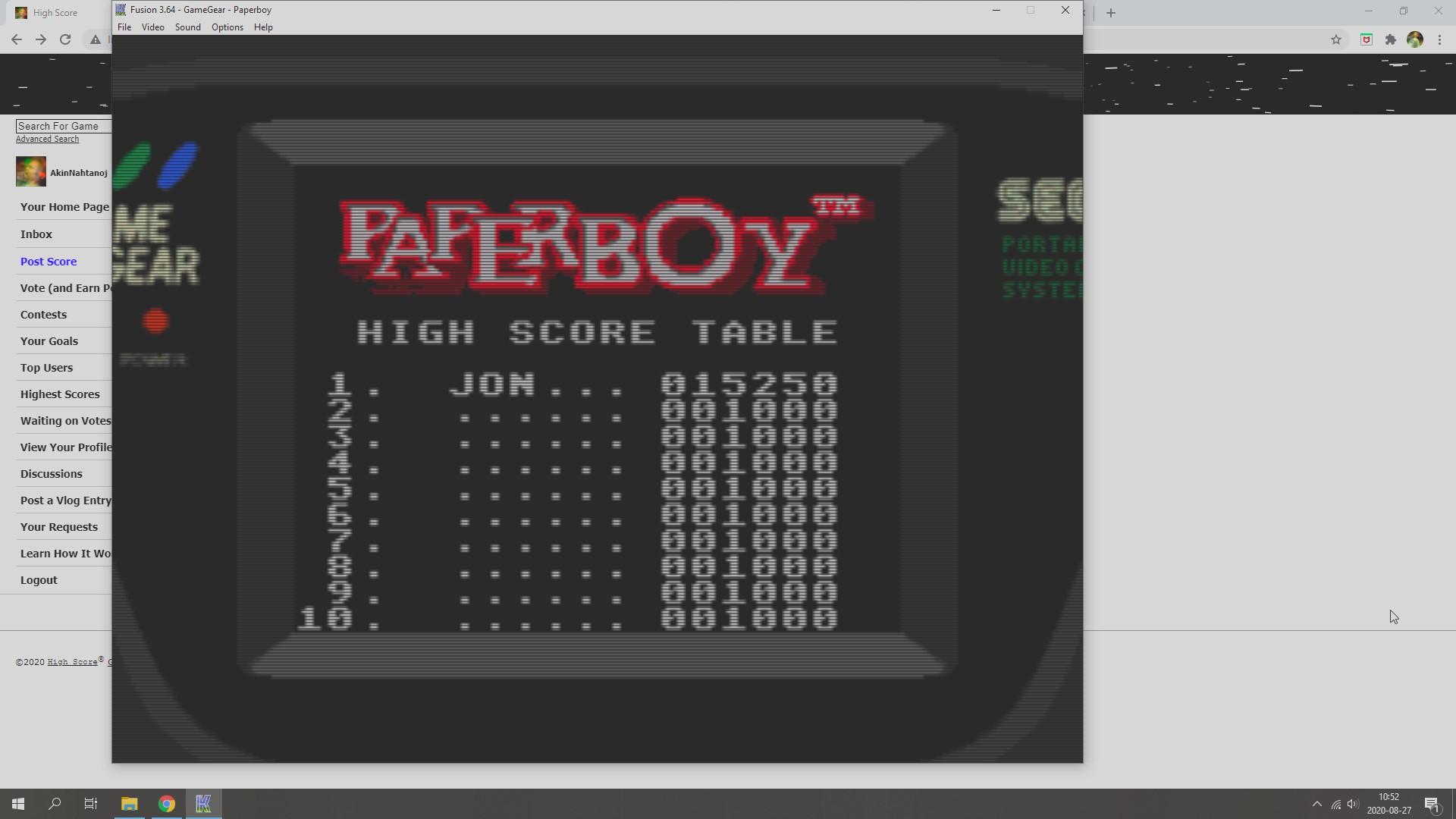 AkinNahtanoj: Paperboy [Easy Street] (Sega Game Gear Emulated) 15,250 points on 2020-08-27 04:01:33