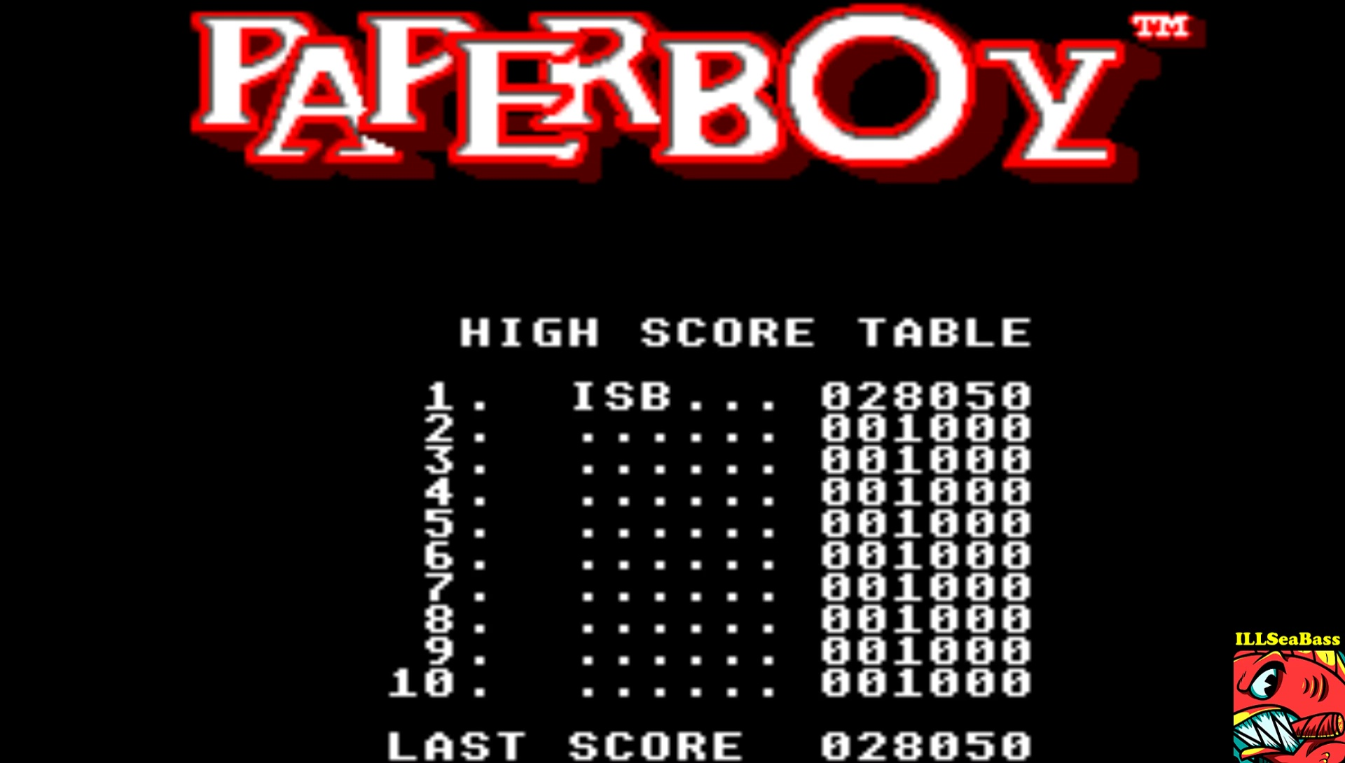 ILLSeaBass: Paperboy [Easy Street] (Sega Master System Emulated) 28,050 points on 2017-03-01 08:50:01