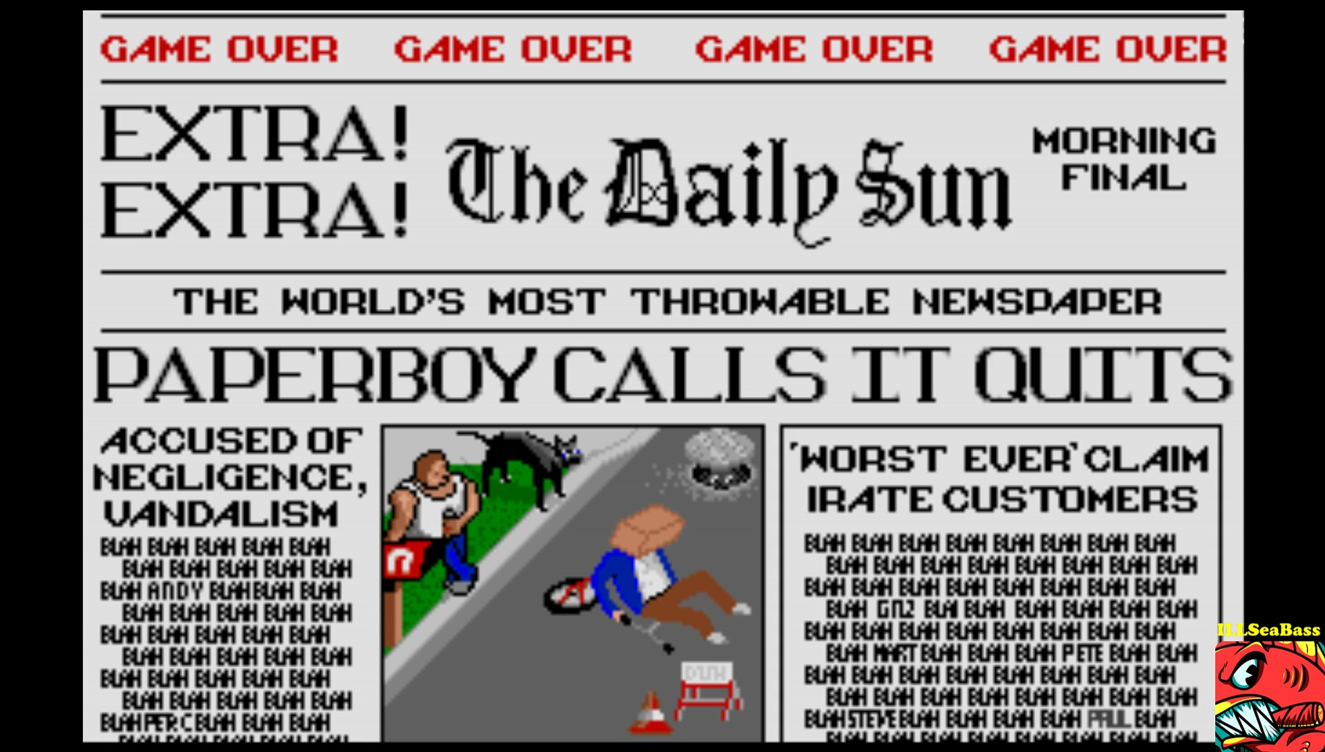 ILLSeaBass: Paperboy [Middle Road] (Atari ST Emulated) 14,750 points on 2017-03-04 22:28:19