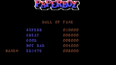 ed1475: Paperboy (PC Emulated / DOSBox) 2,000 points on 2016-09-02 16:29:18
