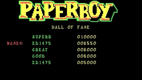 Paperboy 8,550 points