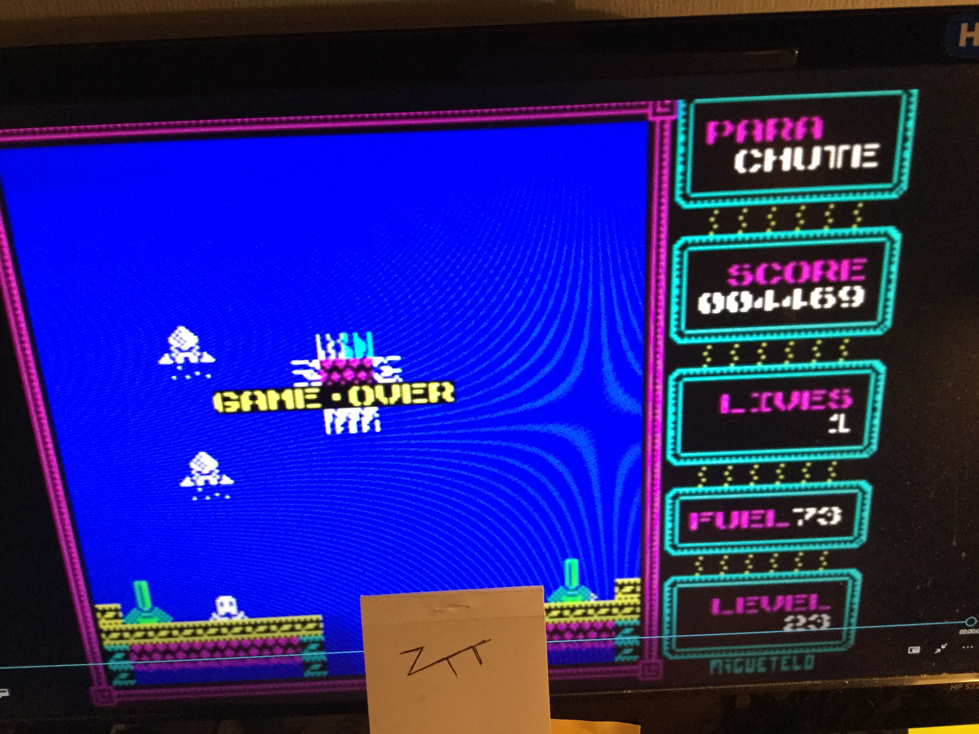 Frankie: Parachute [Miguetelo] (ZX Spectrum Emulated) 4,469 points on 2018-02-02 16:47:01