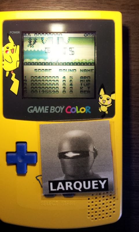 Larquey: Parasol Stars (Game Boy) 125,520 points on 2017-04-02 03:28:49