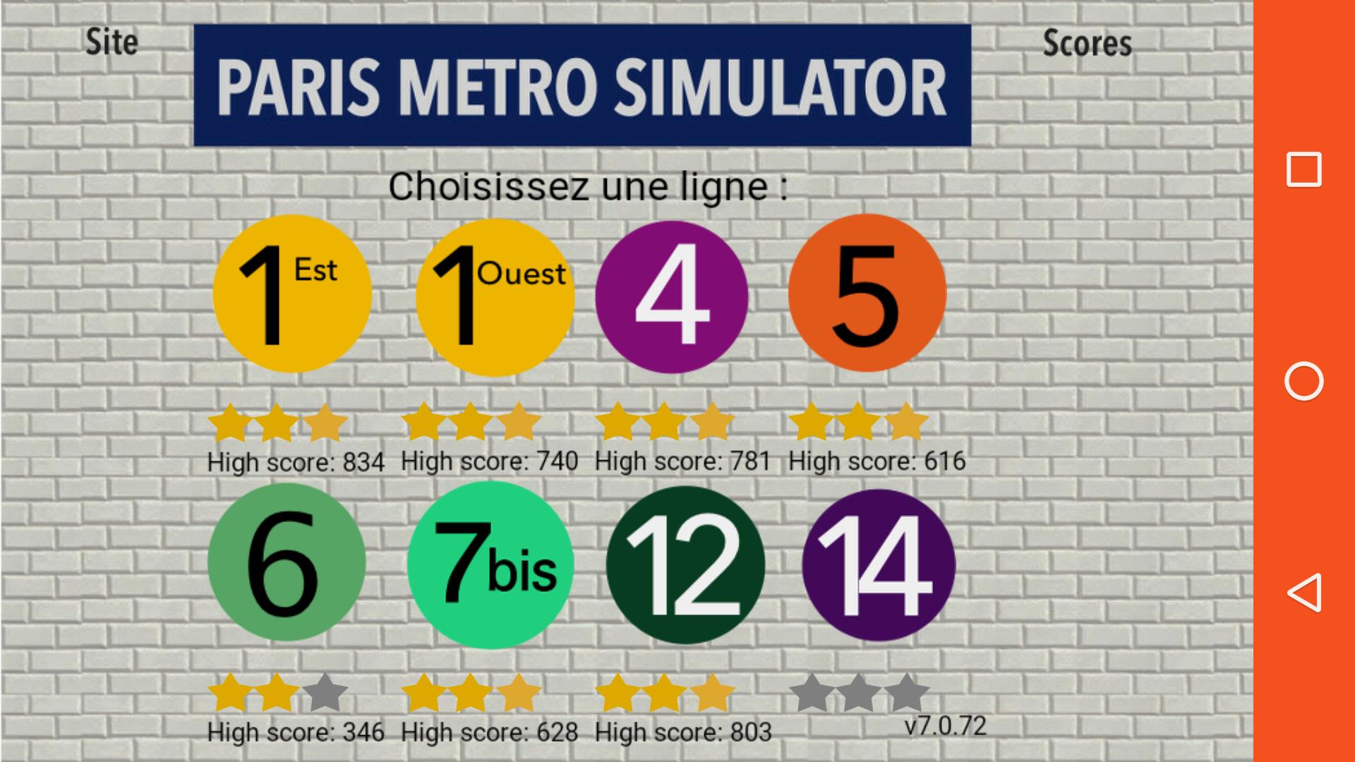 Mantalow: Paris Metro Simulator [Line 7bis] (Android) 628 points on 2016-03-14 05:20:09