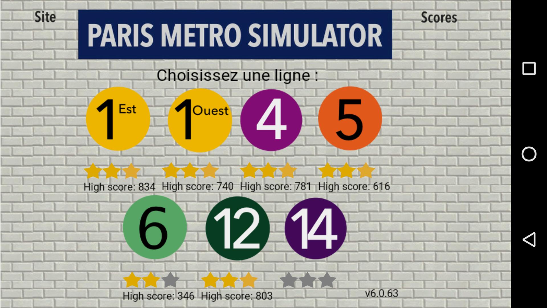 Mantalow: Paris Metro simulator [Line 5] (Android) 616 points on 2015-12-11 02:09:31