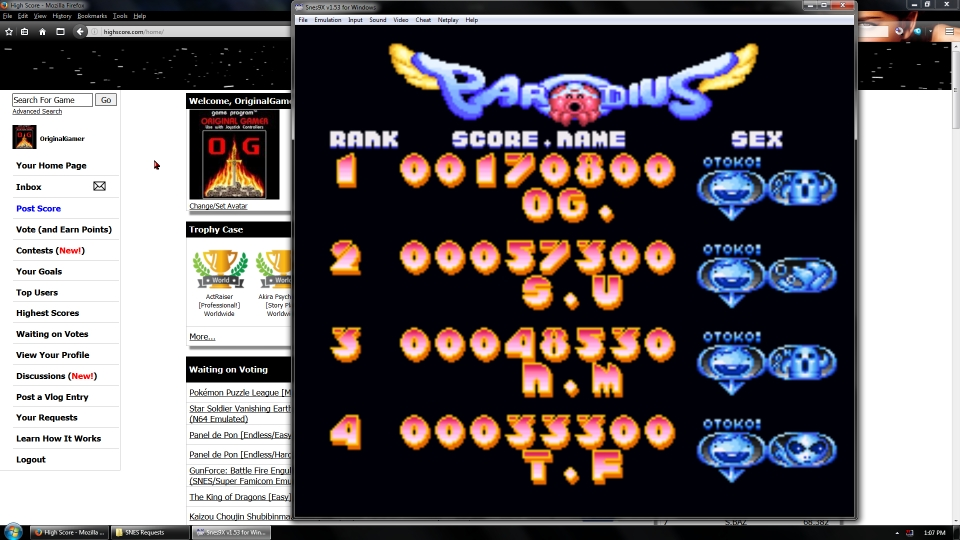 OriginalGamer: Parodius Da! [Easy] (SNES/Super Famicom Emulated) 170,800 points on 2016-07-10 01:39:51