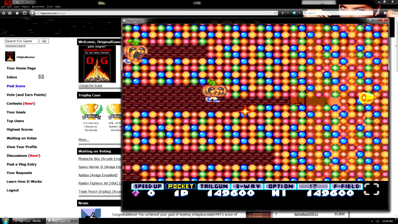 OriginalGamer: Parodius [Normal] (TurboGrafx-16/PC Engine Emulated) 149,600 points on 2015-08-12 21:32:33