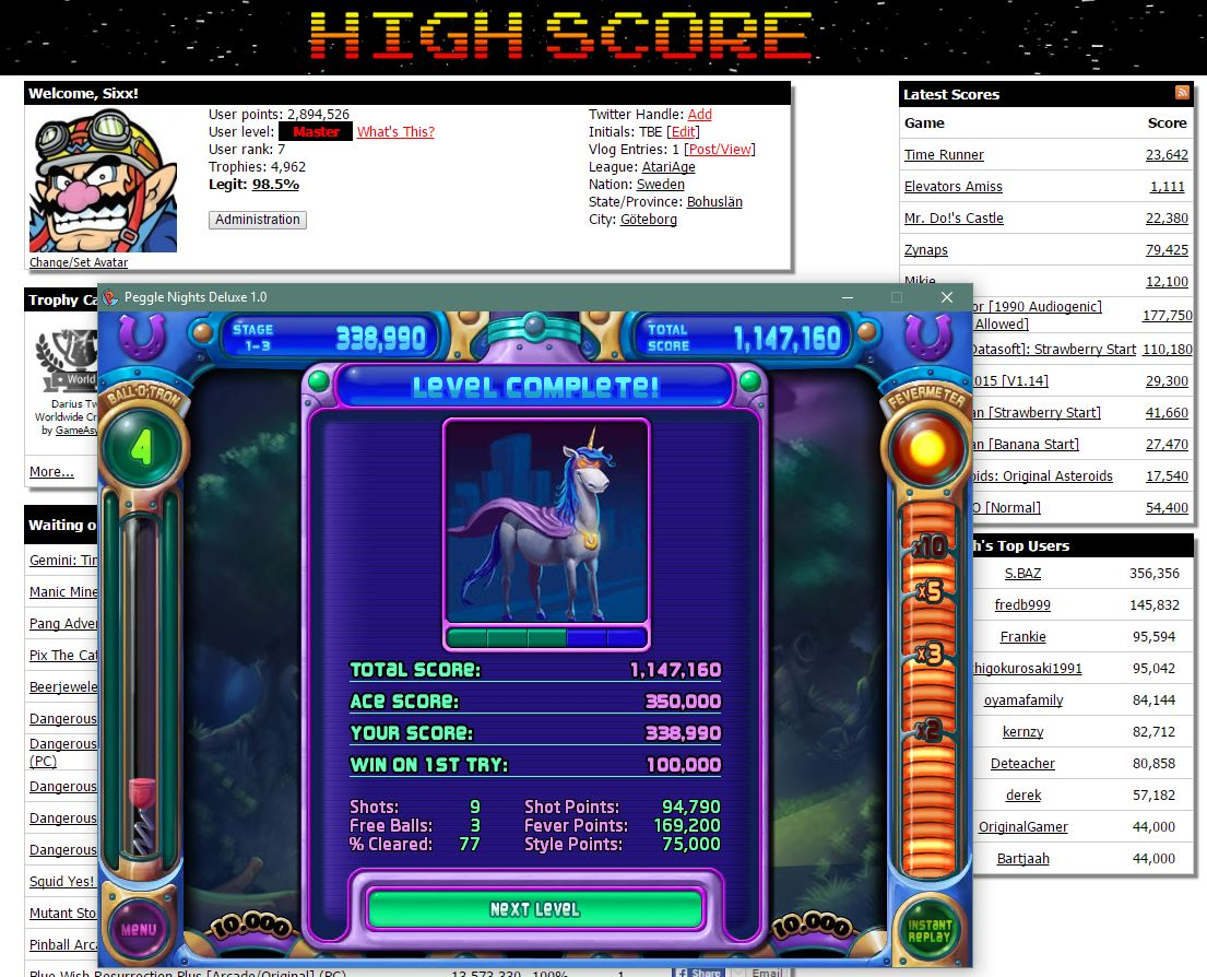 Sixx: Peggle Nights: Level 1-3 (PC) 338,990 points on 2016-06-18 15:11:24