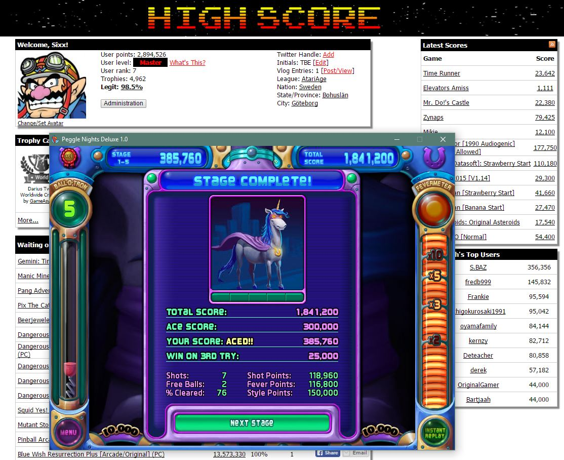 Sixx: Peggle Nights: Level 1-5 (PC) 385,760 points on 2016-06-18 15:12:33