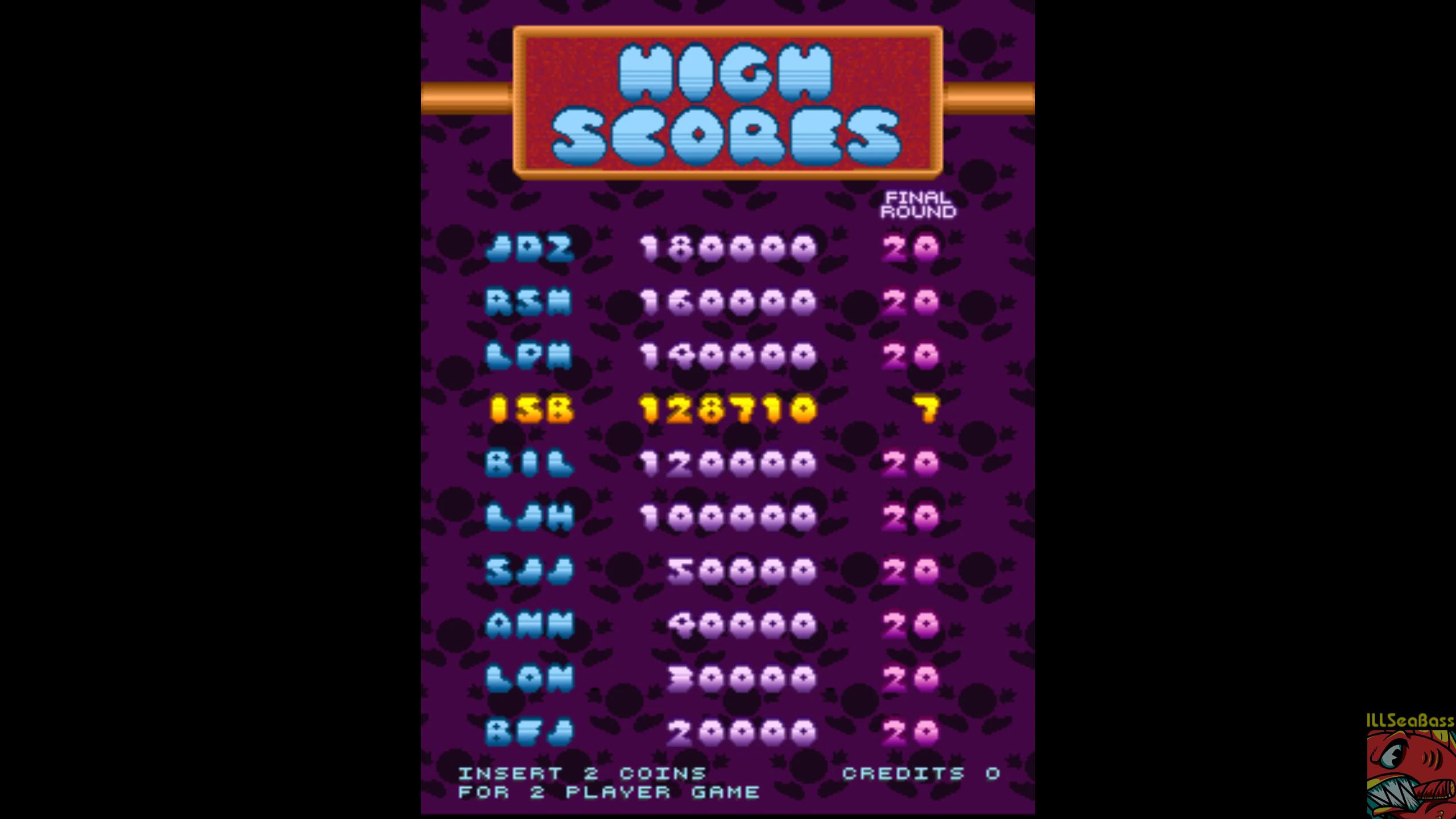 ILLSeaBass: Peggle [peggle] (Arcade Emulated / M.A.M.E.) 128,710 points on 2019-05-22 17:54:44